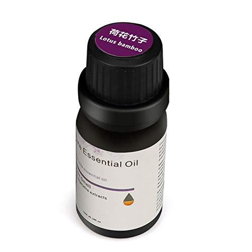 Everpert Aromatherapie Ätherische Öle für Diffuser,100% Pure Aroma Duftöle,-10ml (Lotus Bambus) Ozean,Regenlied,Pfirsich,Lotus Bambus,Bergamotte-10ml (Lotus Bambus) (Pfirsich-öl Bio)
