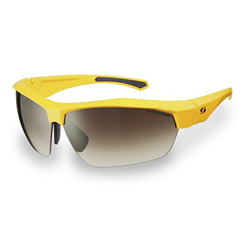 Sunwise Shipley (gelb Rahmen Golf UV Sonnenbrille mit 3Sets auswechselbarem Objektiv