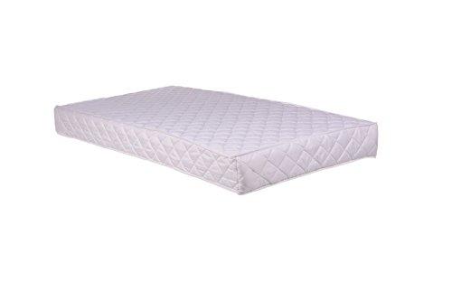 linensrange Babybett Bett Kleinkinder gesteppt Schaumstoff Matratze wasserabweisend (160x 70cm), weiß, 63