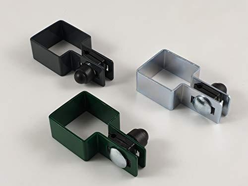 Juego de 2 abrazaderas cuadradas (40 x 40 mm, 50 x 50 mm, 60 x 60 mm, 80 x 80 mm)