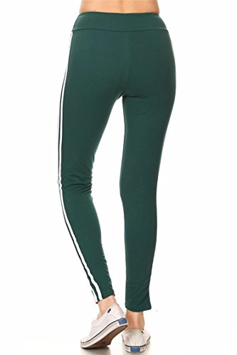 Junshan Femme Legging Taille Haute Yoga Leggings Des Sports Pantalon Athlétiques Stretchy Sports Leggings Dames collants Vert foncé