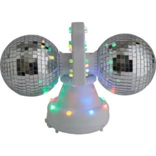 Double Mirror Disco Ball Lamp