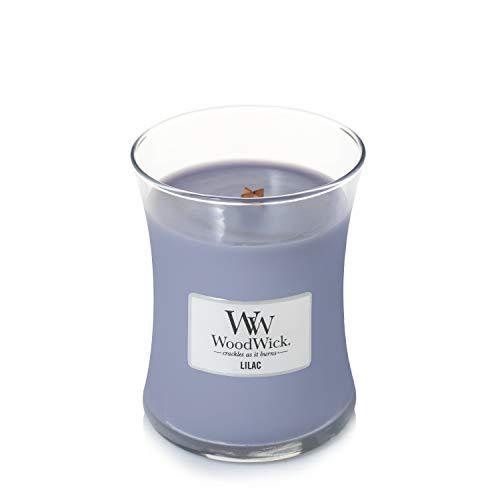 Woodwick - Vela aromática (Aroma a parafina, tamaño Mediano), Color Lila