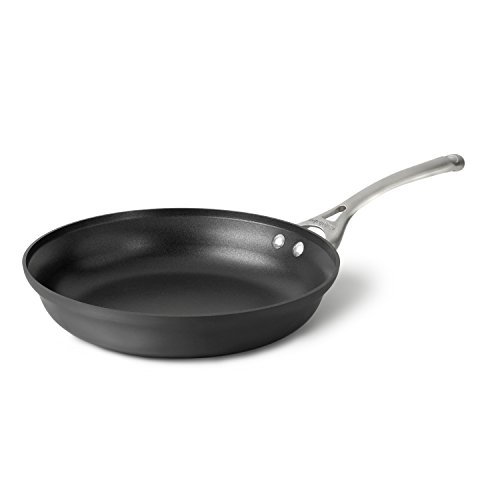 Calphalon modernes Hard-Anodized Aluminium Aluminiumguss Kochgeschirr, Omelett-Pfanne, 25,4cm, Schwarz Omelette-Pfanne 12-Inch Silver/Gray -