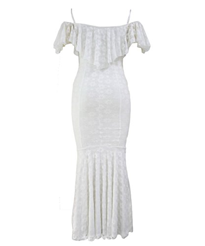 Dissa S1161231 femme Sexy Robes de sirène Blanc