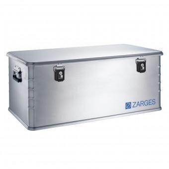 ZARGES Alu-Kombi-Box - Maxi, Inhalt 135 l - Außen-LxBxH 900 x 500 x 370 mm, Gewicht 6,9 kg - Alu-Box Alu-Kiste Alu-Transportkiste Alubox Aluboxen Box Kombibox Kombibox aus Aluminium Kombiboxen Mehrwegbox Transportkiste aus Aluminium Trennwandsystem