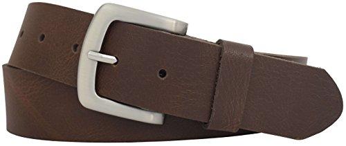 Correct title: Ledergürtel 4cm breit aus einem Stück Leder - sehr weicher Damengürtel/Herrengürtel - Damen Gürtel Leder Gürtel, braun, 120 cm