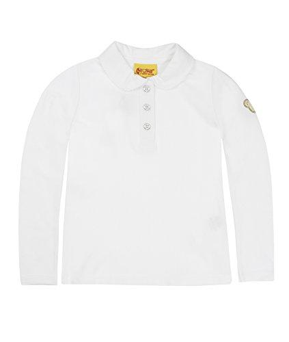 Steiff Baby - Mädchen Poloshirt 0006836 Polo Shirt 1/1 Sleeves,, Gr. 122 (Herstellergröße: 116),Weiß (Bright White)