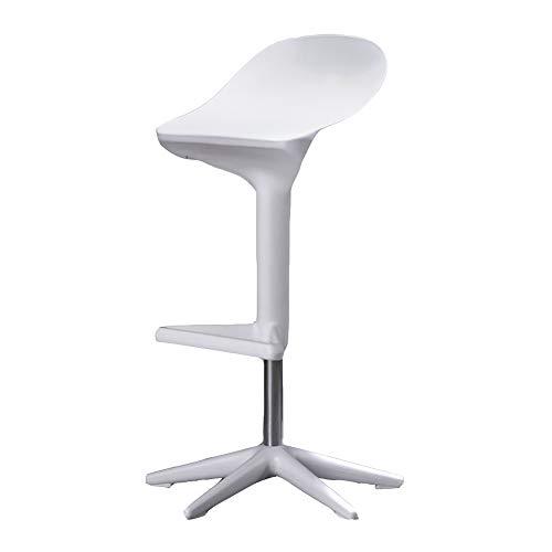 QFFL jiaozhengyi Wine Bar Chair, Büro Rezeption Bar Stuhl Retro Liftable Swivel High Drehstuhl Stilvolle Restaurant Bar Barhocker (Farbe : Weiß) -
