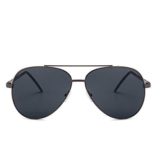Yiph-Sunglass Sonnenbrillen Mode Männer und Frauen Klassische Sonnenbrille Frosch Spiegel Sonnenbrille Angeln Fahrradfahren Outdoor Sports Brillen Sonnenbrillen (Farbe : Kaffee, Größe : Free Size)