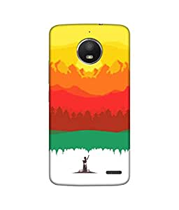 Sketchfab The Sunrise Latest Design High Quality Printed Designer Back Case Cover For Moto E4