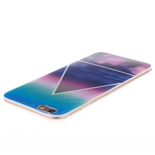 """SsHhUu iPhone 6 Plus Coque, Unique Letter Style Design Ultra Slim Doux TPU Flexible Durable Gel Silicone Protecteur Rear Skin Painting Art Étui Housse Case Cover Pour Apple iPhone 6s Plus 5.5""""; Cloud coloré"""