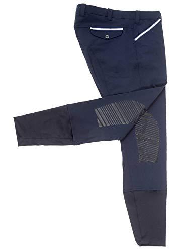 SPOOKS Herren Reithose Vollbesatz, Herrenreithose Reithosen Turnierreithose Vollbesatzreithose - Felix Knee Grip, Navy XL