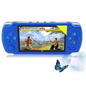 SLB Works Brand New 4.3 Inch Screen 8G 32 Bit Portable 1000+ Retro Games Handheld Game Console Blue