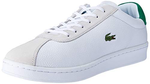 Lacoste Herren Masters 119 2 SMA Sneaker, Weiß (Wht/Grn 082), 42 EU