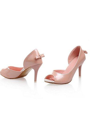 UWSZZ IL Sandali eleganti comfort Scarpe Donna-Sandali-Ufficio e lavoro / Formale / Casual-Tacchi / Spuntate-A stiletto-Vernice-Rosa / Bianco White