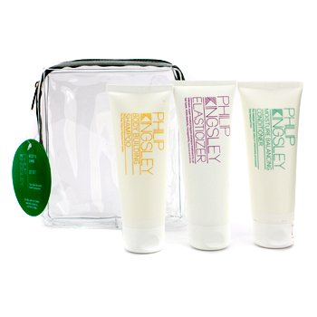 Philip Kingsley - Body & Shine Jet Set: Shampoo + Conditioner + Elasticizer 3pcs - Philip Kingsley Body