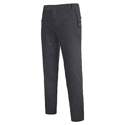 Lange Hose Bequeme Stoffhose aus hochwertiger Relaxed Cargo Einfarbig Pants Lässig Formell Geschäft Gerade geschnittene Hose ()