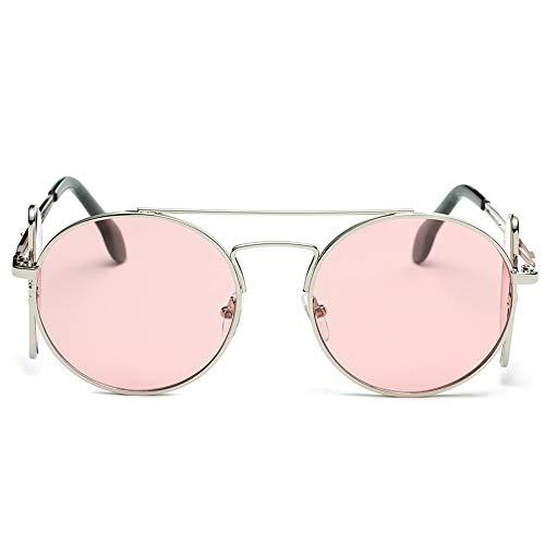 QDE Sonnenbrillen Retro Männer Frauen Sonnenbrille Oval Übergroßen Flip Abnehmbare Rahmen Dual Use Metallrahmen Sonnenbrille Eyewear Uv400 Sport Sonnenbrille, E