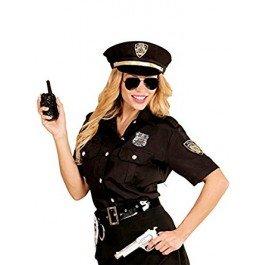 stüm für Damen Schwarz M / L (Polizei Kostüm)