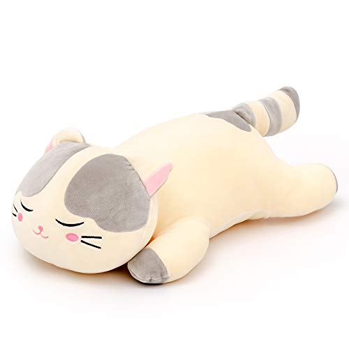 "Lazada Plush Cat Very Soft Hugging Pillow Stuffed Kitty Animal Toy Gris 18 ""(45cm)"