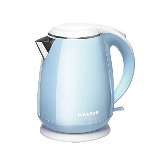 Ys-chuju Edelstahl Mini 1.5L Wasserkocher Hot Pot kleine Kapazität -1800W Rosa (Farbe : Blau)