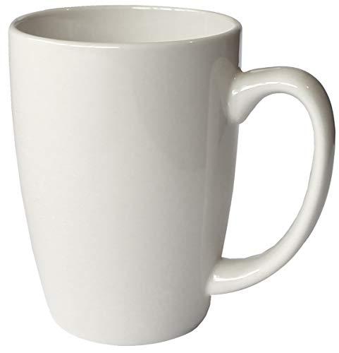 Iti Keramik Endeavor Kaffee Tassen, mit Pfanne Schaber, 14Unze 14 ounce Bone White Bone Scraper