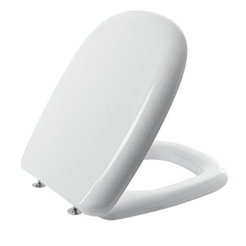 Saniplast 2fse172702 sedile wc, resina termoindurente, bianco, 44x35.4x5 cm