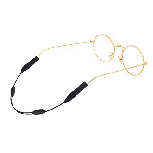 Healifty Silikon Brillenhalterung Anti-Rutsch Brillenband Wasserdichtes Lanyard Brillenhalter Schwarz