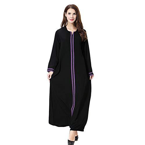 gfjfghfjfh Moslemisches arabisches nahöstliches Frauen Roben-Stickerei-Collagen-ethnisches Kleid-langes Hülsen-Abaya-Kaftan-Kleid