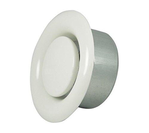 Invero® Universal Metall rund Deckenleuchte Air Supply Ventil Vent Cap (10,2cm Zoll 100mm Durchmesser)-weiss pulverbeschichtet -