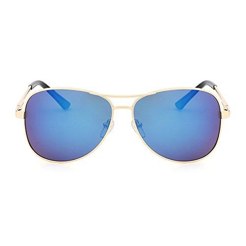 Neue Polarisierte Sonnenbrille Pilot Männer Kostüm Designer Klassische Schutz Metall Sonnenbrille Fahren Gläser UV400 Accessoires (Color : Gold - Klassische Mann Kostüm