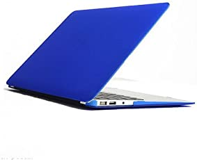 CABLESETC™ Matte SeeThru Hard Shell Case Cover For (Apple Macbook Air 11.6 A1465 A1370, Blue)