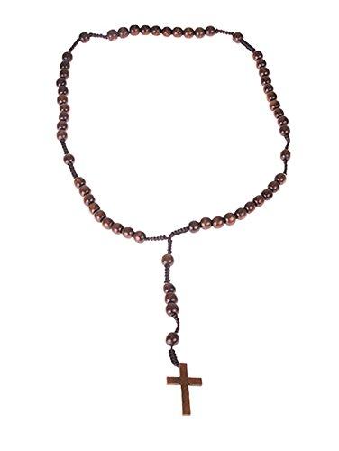 m Kette - Kreuz aus Holz - 75cm, Braun (Jesus Und Maria Halloween Kostüme)
