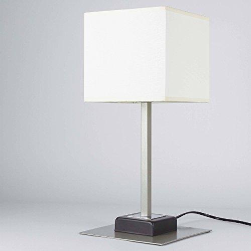 Elegante Tischleuchte in Venge Beige Bauhausstil 1x E27 bis zu 60 Watt 230V aus gewebten Stoff &...