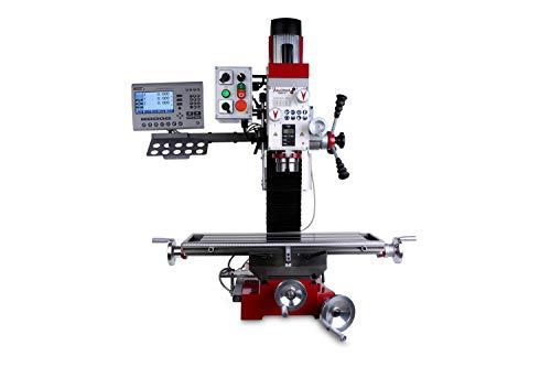 PAULIMOT Bohr-/Fräsmaschine F400-G mit Ölbad-Schaltgetriebe, 2-stufigem Drehstrommotor und Messsystem