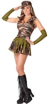 Sexy Army Brat militärische Frau - Kleid Größe 30-36 (2-8 usa size) (Militärische Frau Kostüm)