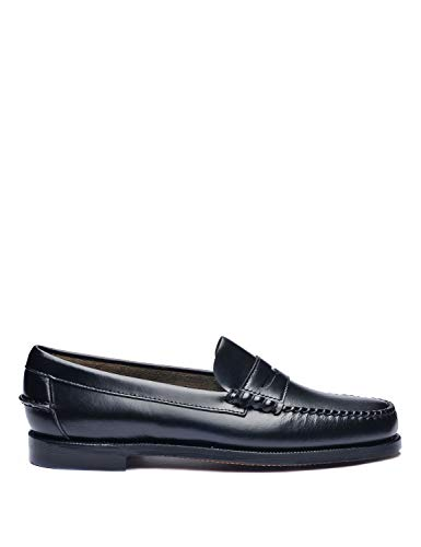 Sebago Classic Dan Womens Slip On Shoes 39 EU Black -