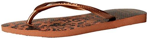 Havaianas Femmes Tongs Couleur Marron Rust Taille 42 EU / 11 Us