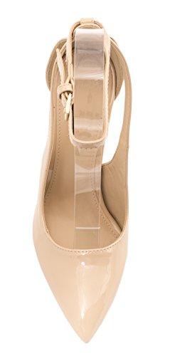 Elara - Scarpe con cinturino alla caviglia Donna Beige