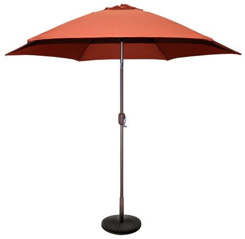 Tropishade 9 ft Bronze Aluminum Patio Umbrella with Rust Polyester Cover (Base not Included) - 9' Market Umbrella Base