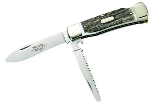 Hartkopf-Solingen 1010297410 Hartkopf-Jagdtaschenmesser, Hirschhorn, Klinge 1.4110 Stahl Jagd-taschenmesser, Mehrfarbig, One Size