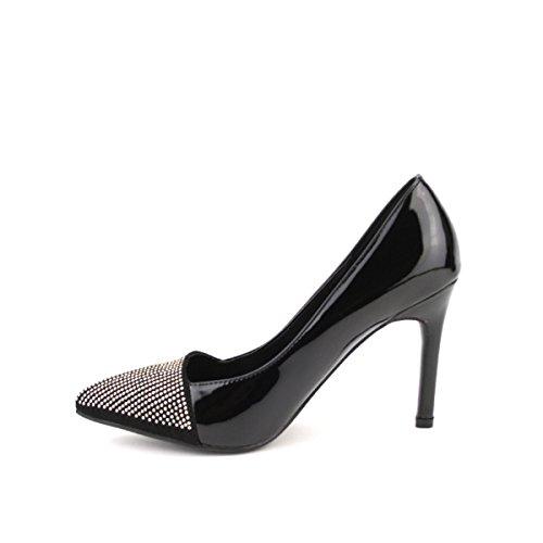 Cendriyon, Escarpin Noir AZALA MODE Chaussures Femme Noir