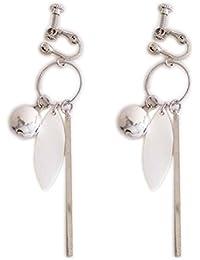 Ohrclips Clip on Ohrringe Ohr für non Pierced Baumeln Drop Bead Schale Blatt Quaste für Damen Silberton