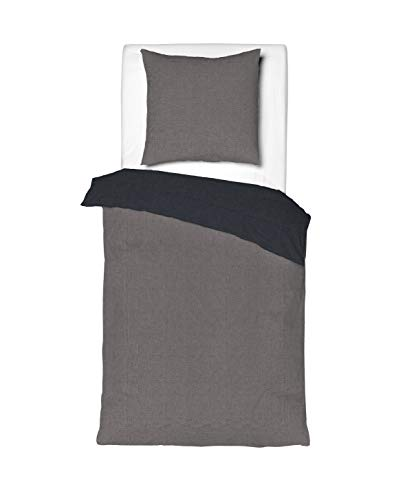 Aminata Kids – Wende-Bettwäsche Baumwolle + Reißverschluss zum Wenden | Verschiedene Größen | unifarben Wendebettwäsche Bettwäscheset Ganzjahres Bettbezug
