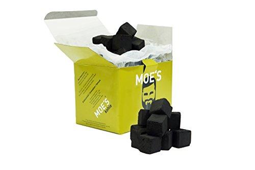 MOE'S Shisha ® Home Kohle 1 kg - Premium Shisha Kohle - Naturkohle Briketts aus Kokosnussschalen