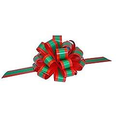 Idea Regalo - GiftWrap Etc. Archi a Strisce Rosse e Verde Smeraldo con Fiocco - 8