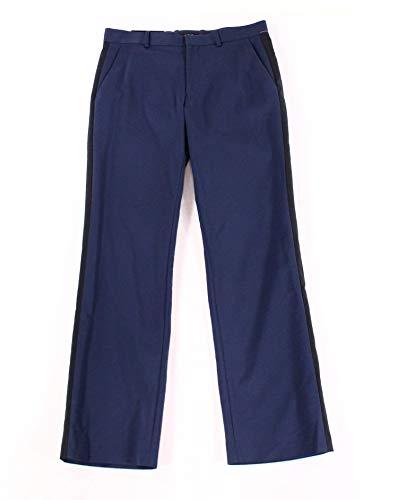 Alfani Men Pants 32X30 Contrast Stripe Dress Flat Front Stretch (Dress Mens Alfani)