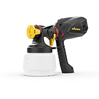 Wagner 2397329 Universal 575 FLEXiO Electric Sprayer for Wall & Ceiling/Wood & Metal Paint-Interior and Exterior Usage, Covers 15 m²-6 min, Capacity 1300 ml/800 ml, 630 W, Black