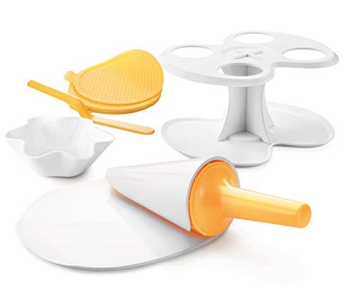 Kit di stampi forma cono e cialda per gelati con supporto per coni